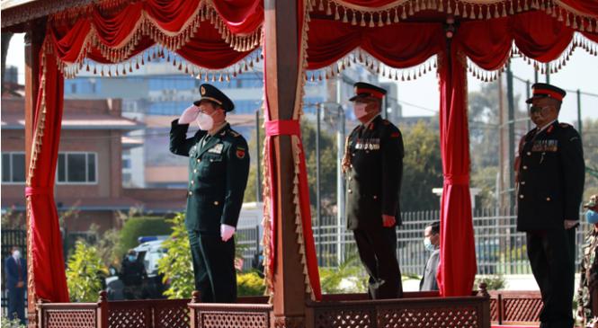 सेनाद्वारा चिनियाँ रक्षामन्त्रीलाई सम्मान गारद (फोटोफिचर)
