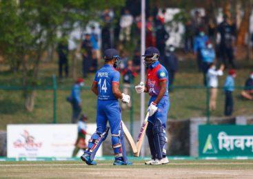 नेपाली टिमका बलरहरु धरासायी, ओमानसँग नेपाल ५ विकेटले पराजित