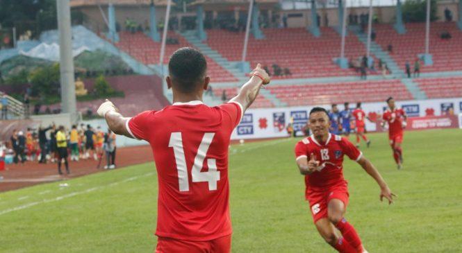 मैत्रीपूर्ण फुटबलः भारतलाई बराबरीमा रोक्न सफल भो नेपाल